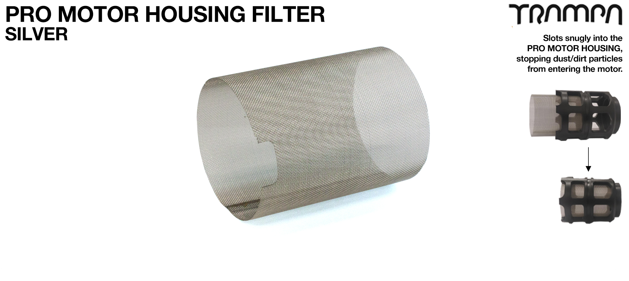 MkII Motor protection Cover MESH FILTER - SILVER
