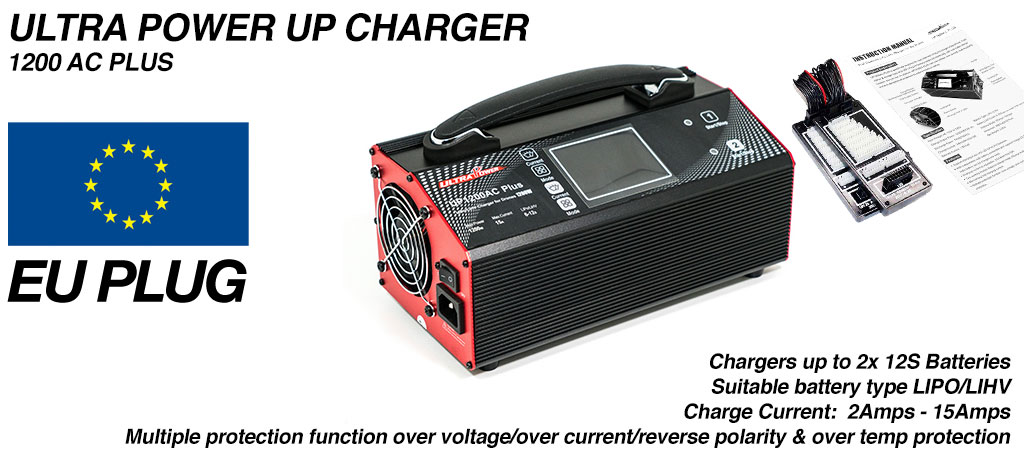 Upgrade me to the ULTRAPOWER Charger EURO PLUG (+£175)