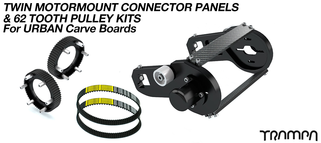 MkII URBAN CARVEBOARD Motormount Connector Panel & 62 Tooth Pulleys - TWIN