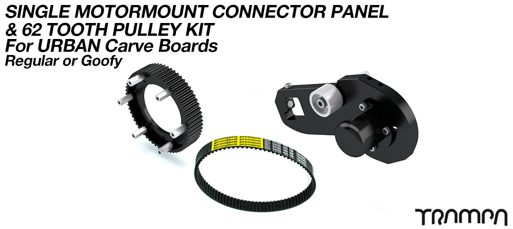URBAN CARVEBOARD Motormount Connector Panel & 62 Tooth Pulley Kit - SINGLE