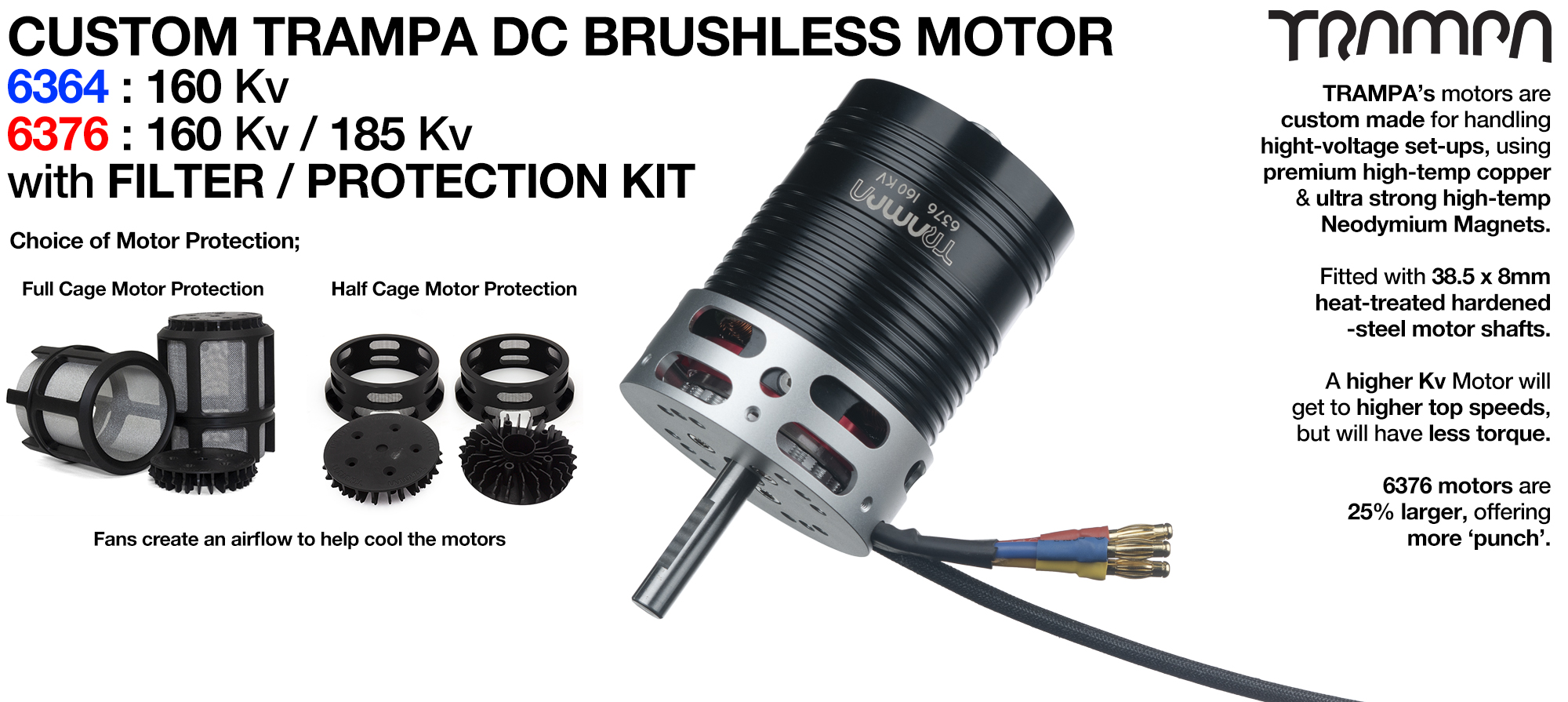 1x Custom TRAMPA DC Motor with Filters