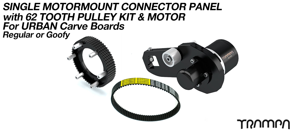 MkII URBAN CARVEBOARD Motormount Connector, 62 tooth Pulleys & 160Kv Motor - SINGLE