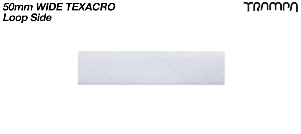 50mm wide White Texacro (hook & loop tape) - LOOP