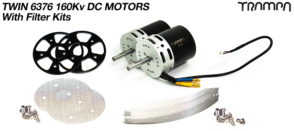 2x TRAMPA 6376 3800w 160Kv DC Motor with Filters