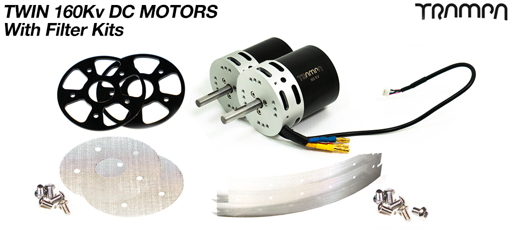 2x TRAMPA 6364 2400w 160Kv DC Motor with Filters