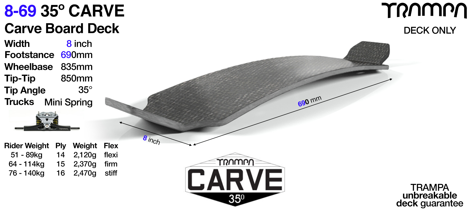 35° Original 9-69 Carve Deck