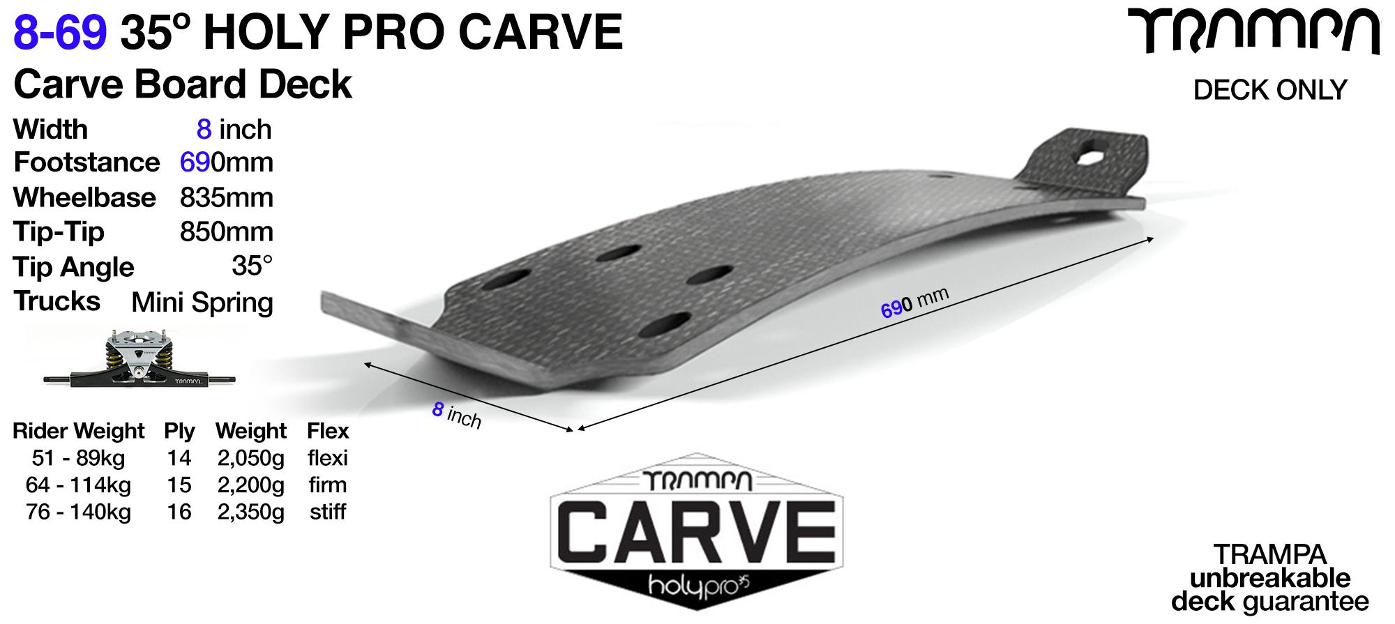 35° Original 9-69 HOLYPRO Carve Deck