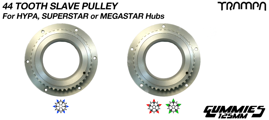 44 Tooth Slave Pulley - HYPA or SUPERSTAR/MEGASTAR - URBAN Motor Mounts