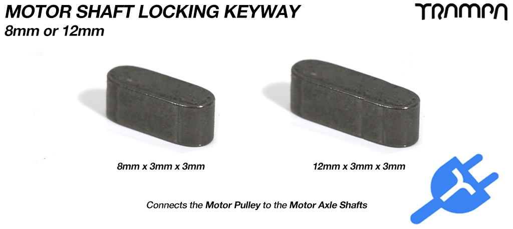 KEYWAY for Motor Pulley & Axle Shaft 8mm or 12mm