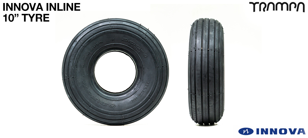 10 Inch Inline Tyre - Suitable for Lightweight aircraft, Golf Buggies, Karts, Trikes, Tractors etc....