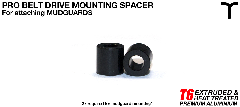 8 inch Mud Guard T6 Mounting Spacer V2 - PRO BELT DRIVE 4.1 ID x 7.5 OD x 7.5 L