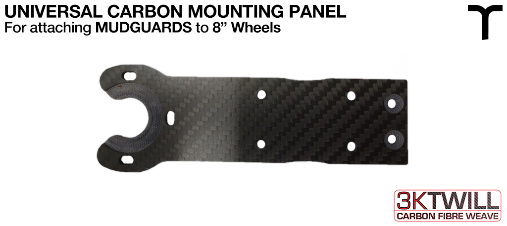8 inch Mud Guard 4mm Carbon Fibre FRONT Mounting Panel - Universal Part 2