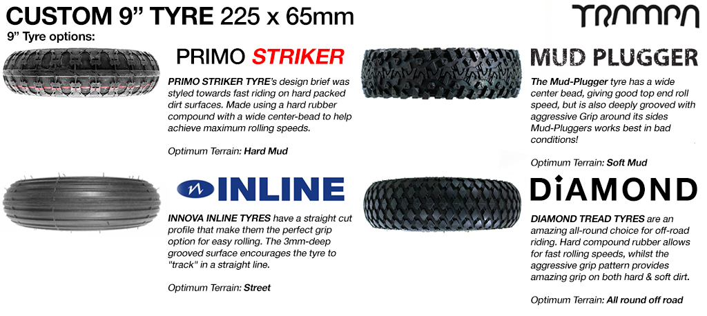 Custom 9 inch Tyre
