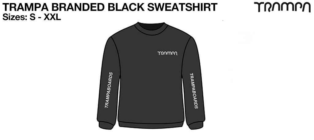 BLACK STARWORLD Ultimate Sweatshirt with Silver TRAMPA Logo's