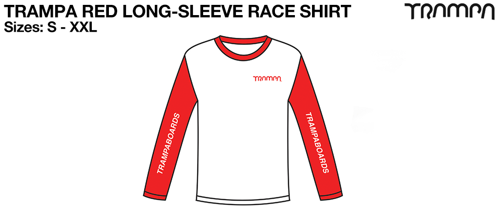 Fruits of the Loom Long Sleeve Race Shirt Red & White