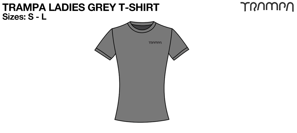 LADIES Silver TRAMPA Branded T-Shirt