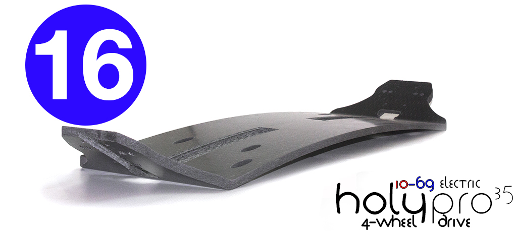 16ply 35º HOLYPRO Original 10-69 Electric 4WD Mountainboard BLANK Deck with CNC channel cut into the surface for hiding power cables