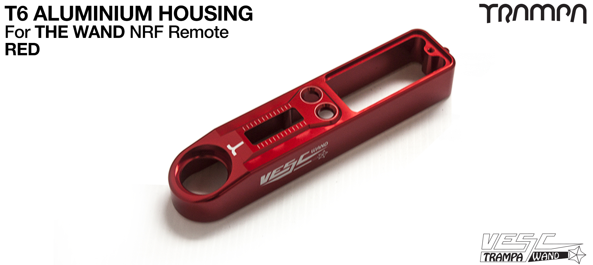 WAND T6 Aluminium Housing - RED Anodised