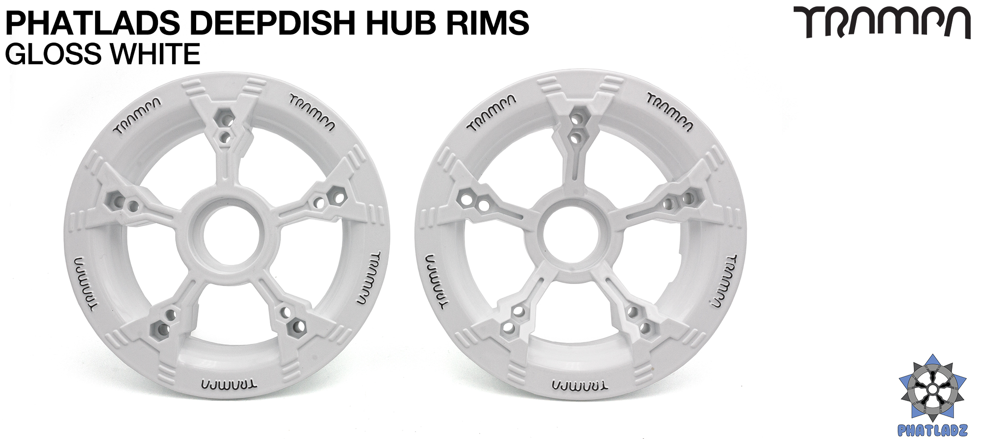 Gloss White with Black Logo PHATLADS hubs please (+£5)