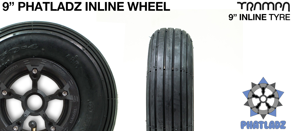 PHATLADS hubs with 9 Inch INLINE Tyre