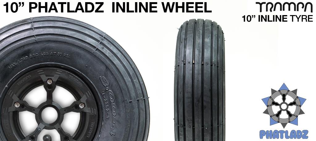 BLACK PHATLADZ Deepdish hub with 10 Inch INNOVA INLINE Tyre