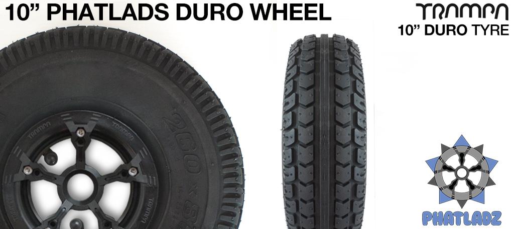 BLACK PHATLADZ Deepdish hub with 10 Inch ENDURO-Tread Tyre