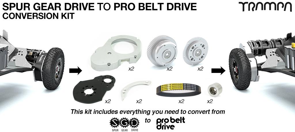 Spur Gear TO PRO Belt Drive conversion Kit
