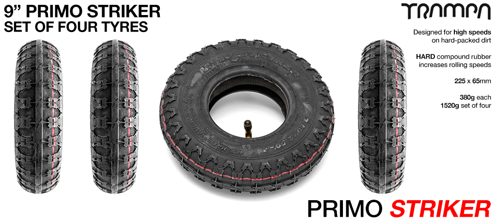 PRIMO STRIKER - 9 Inch Hard Packed Dirt Tyres