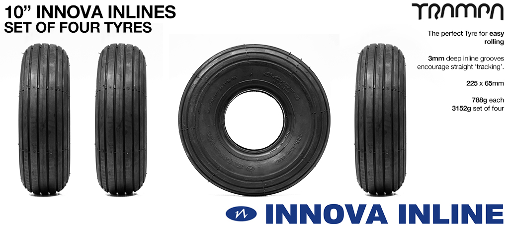 Set of 10 inch INNOVA Inline Tyres