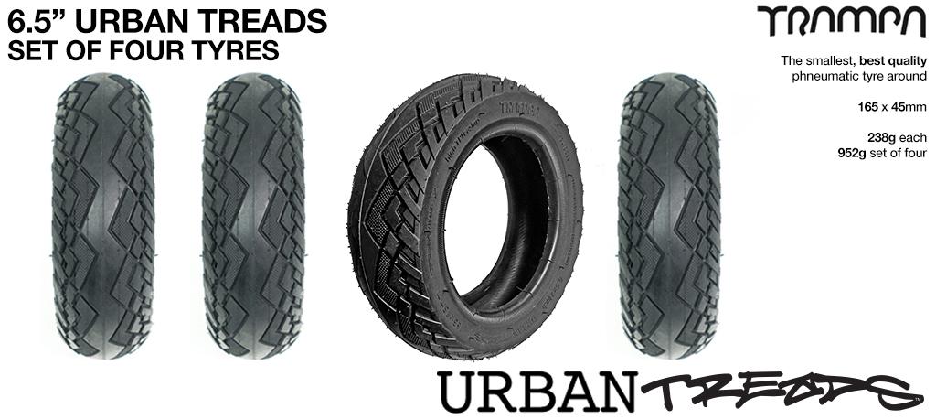 4x 6.5 Inch URBAN Treads High Pressure High speed Tyres