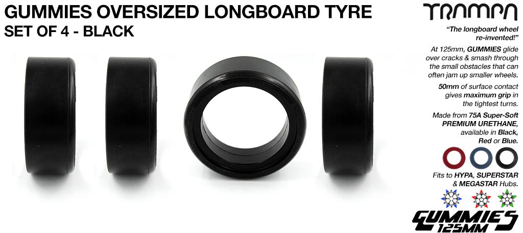 GUMMIES Tyres SET 52x125mm 75a-78a Ultra Premium Urethane tyres