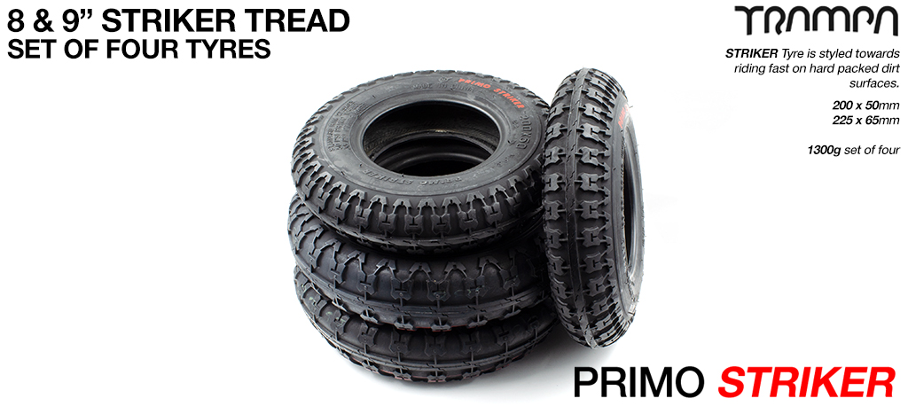 9INCH PRIMO STRIKER SET- 9 Inch Hard Packed Dirt Tyres