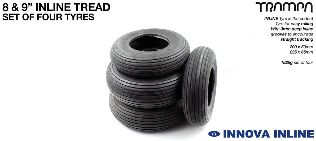 INNOVA INLINE Set - 9 Inch  Straight cut Street tyre