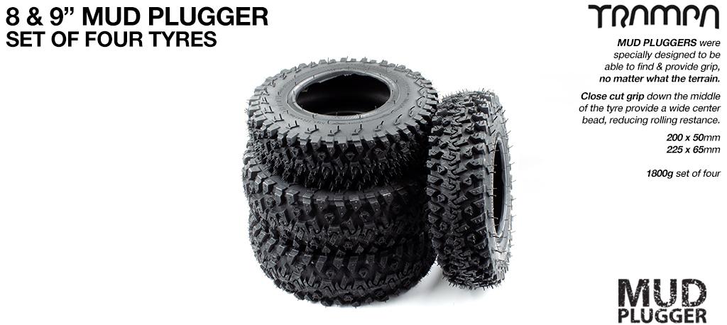 9 Inch TRAMPA Mudplugger Tyre Set