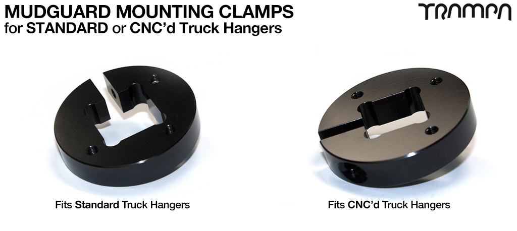 Mud Guard T6 Mounting Clamp - CNC'd or STANDARD HANGER
