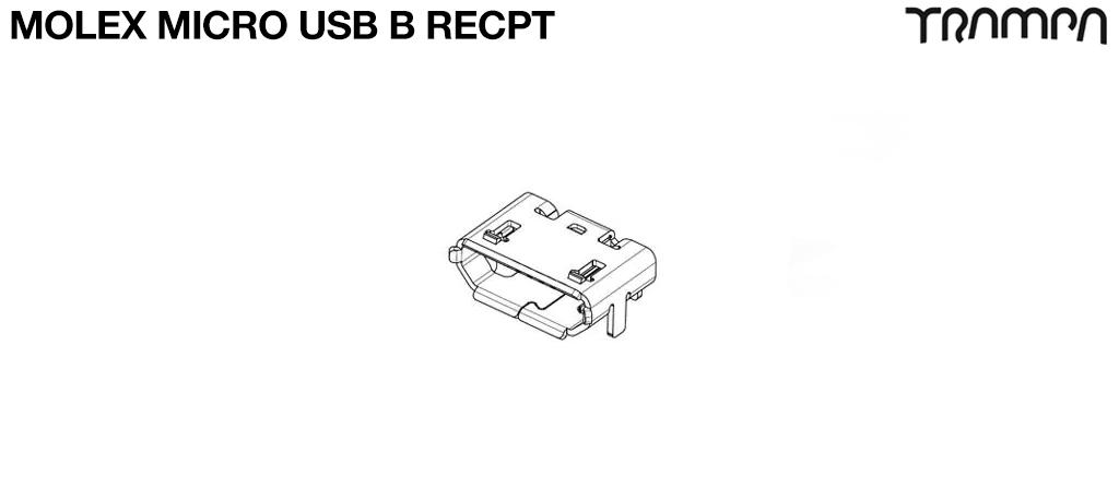 Molex MICRO USB B RECPT