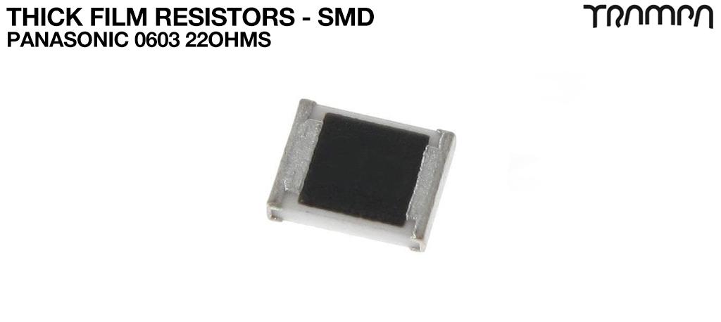 Thick Film Resistors - SMD / Panasonic 0603 22ohms