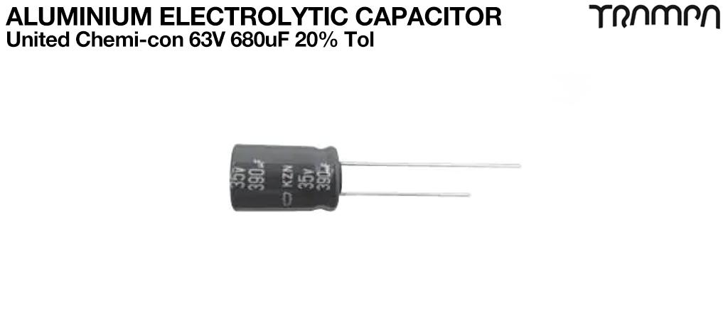Aluminium Electrolytic Capacitors / United Chemi-con 63V 680uF 20% Tol