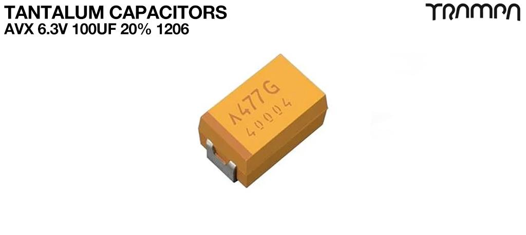 Tantalum Capacitors / AVX 6.3V 100uF 20% 1206