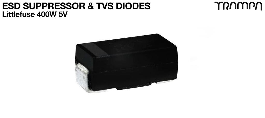 ESD Suppressor& TVS DIODES / Littlefuse 400W 5V
