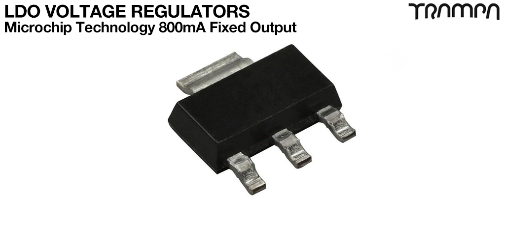 LDO Voltage Regulators / Microchip Technology 800mA Fixed Output