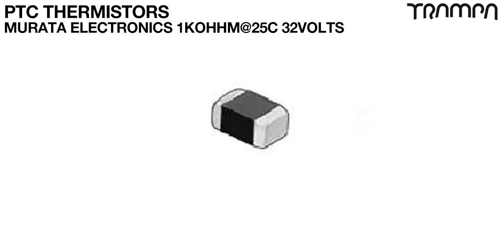 PTC Thermistors / Murata Electronics 1Kohhm@25C 32Volts