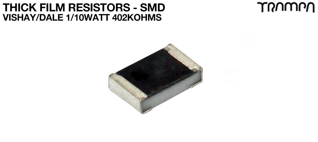 Thick Film Resistors - SMD / Vishay/Dale 1/10Watt 402Kohms