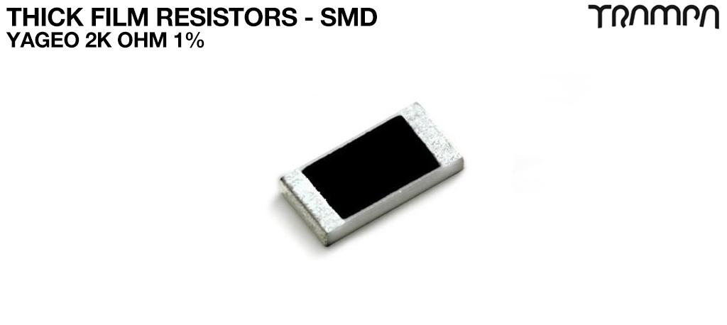 Thick Film Resistors - SMD / Yageo 2K OHM 1%
