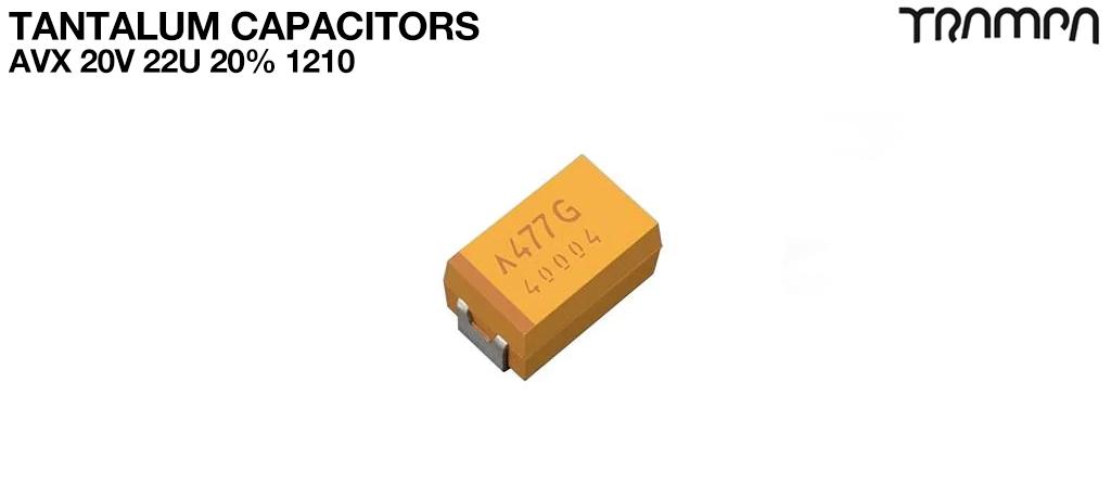Tantalum Capacitors / AVX 20V 22u 20% 1210