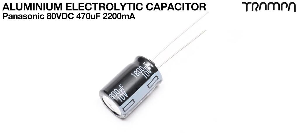Aluminium Electrolytic Capacitors / Panasonic 80VDC 470uF 2200mA