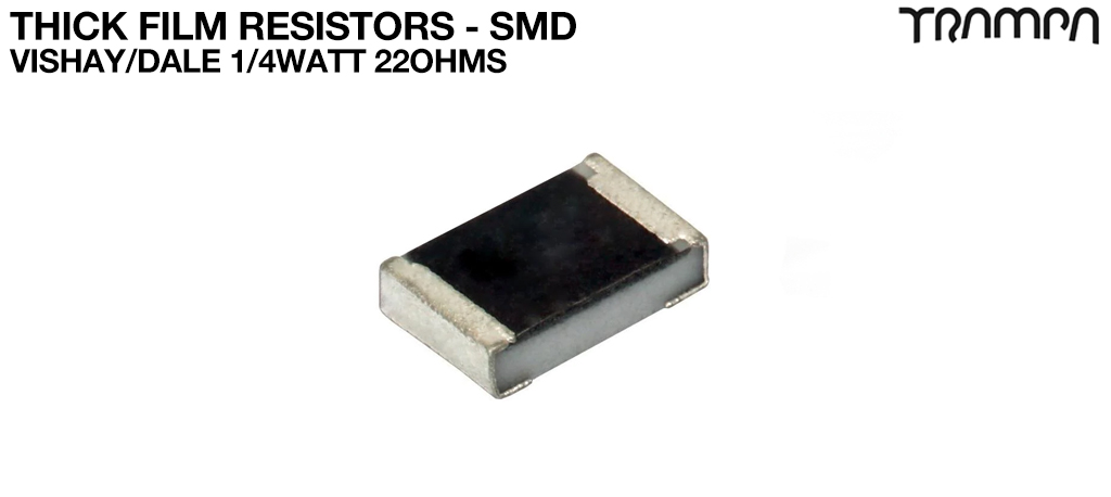 Thick Film Resistors - SMD / Vishay/Dale 1/4Watt 22ohms