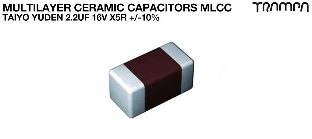 Multilayer Ceramic Capacitors MLCC / TAIYO YUDEN 2.2uF 16V X5R +/-10%