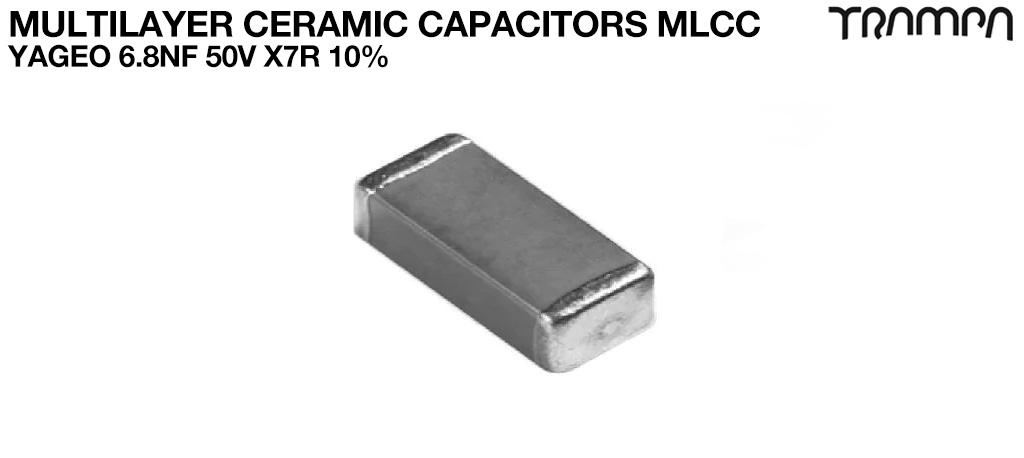 Multilayer Ceramic Capacitors MLCC / YAGEO 6.8nF 50V X7R 10%