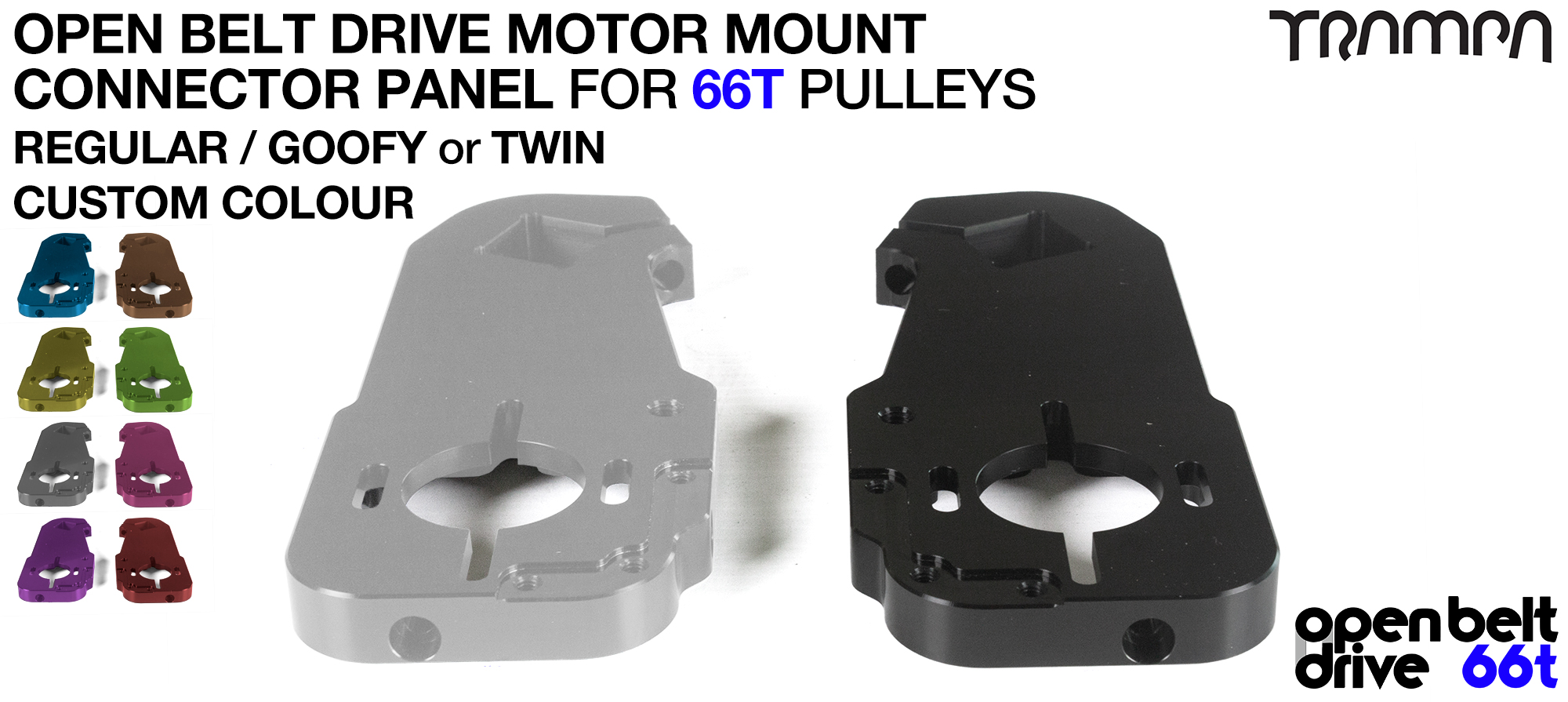 OBD Motor Mount Connector Panel for 66 tooth Pulleys - REGULAR or GOOFY